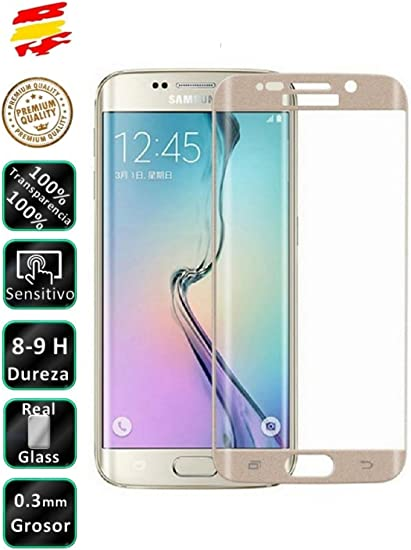 Movilrey Protector para Samsung Galaxy S6 Edge Plus Color Dorado ...