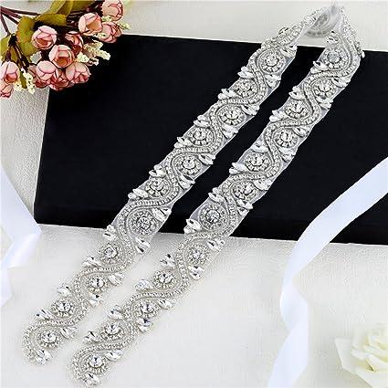 Amazon.com  FANGZHIDI Wedding Applique Belt for Dress 365703f7807e