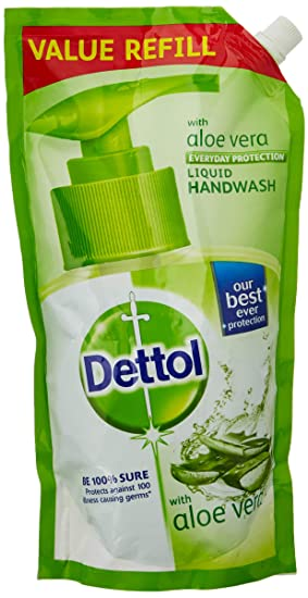 Dettol Germ Protection pH-Balanced Liquid Hand Wash Refill, Aloevera - 750 ml with Dettol Hand Sanitizer, Original - 200ml