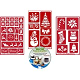 Armour Etch 20-0460 Rub N Etch Stencil Santa 5-Inch by 8-Inch