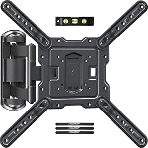 MOUNTUP TV Wall Mounts TV Bracket for Most 26-55 Inches TVs, Full Motion TV Wall Mount with Swivel and Extend 17.7Inch, TV Mount with Swivel Articulating Arm, Max VESA 400x400mm, MU0009