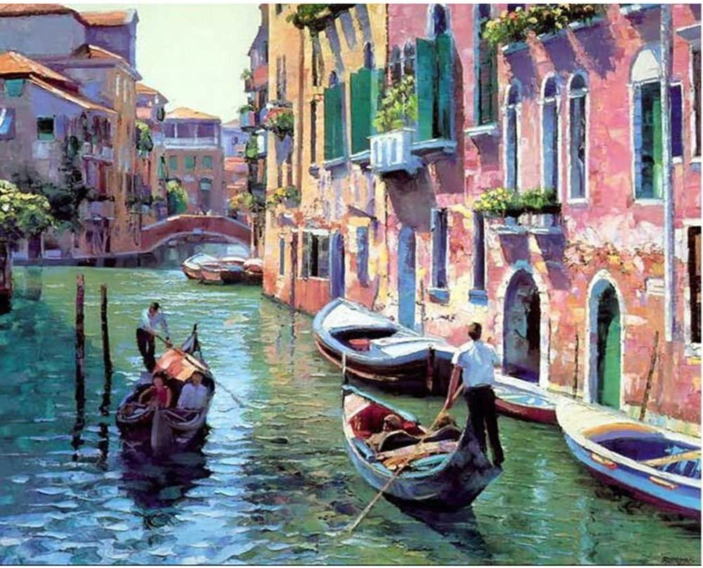 Italy Venice Without Frame Tonzom Paint by Numbers Kit 16x20 inches DIY Oil Painting with Acrylic Pigment Unique Gift for Best Friends