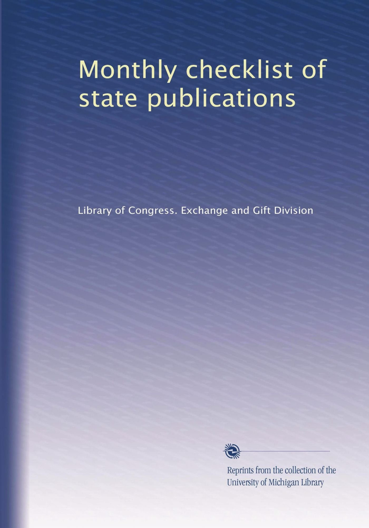 Read Online Monthly checklist of state publications ebook