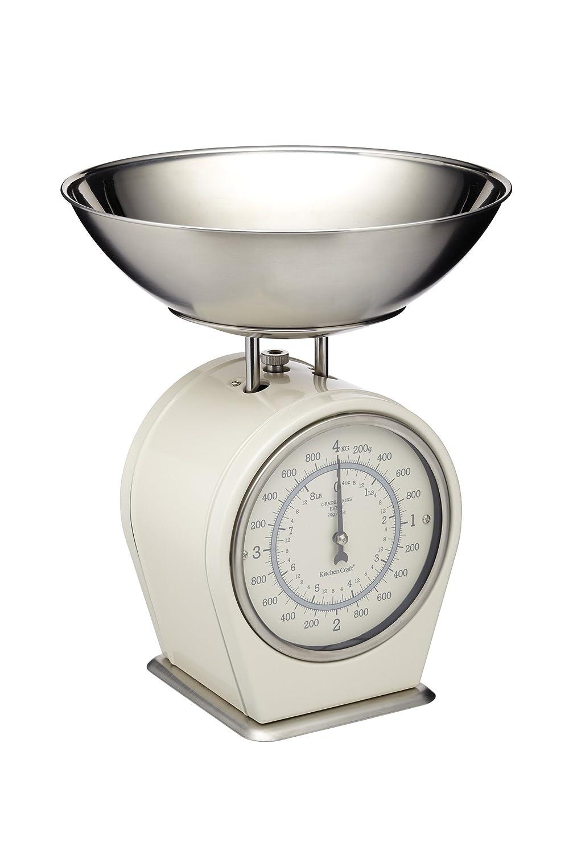 KitchenCraft Living Nostalgia Mechanical Kitchen Scales, 4 Kg (8 Lbs)    Antique Cream: Amazon.co.uk: Kitchen U0026 Home