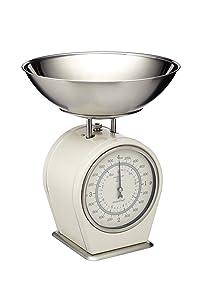 Kitchencraft Living Nostalgia Mechanical Kitchen Scales, 4kg (8 Lbs) - Antique