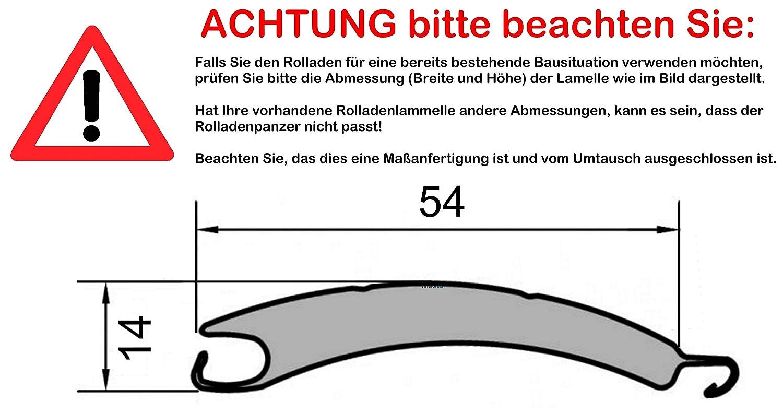Rollladenpanzer ALU Maxi weiß (54 x 14mm), Maßanfertigung Maßanfertigung Maßanfertigung nach Kundenwunschmaß  105cm Breite x 160cm Höhe - durch smarotech® Deutschland B07P145XF9 Fensterlden c41d5d
