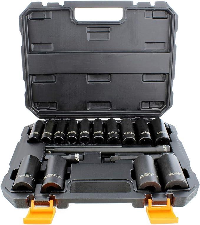 ABN Socket Accessory Set with Socket Adapter Socket Extension 10-Piece Mechanics Tool Set Universal Joint Socket