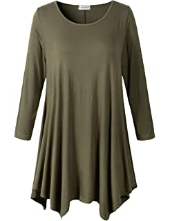 Sexy plus size 3/4 length sleeve t shirts