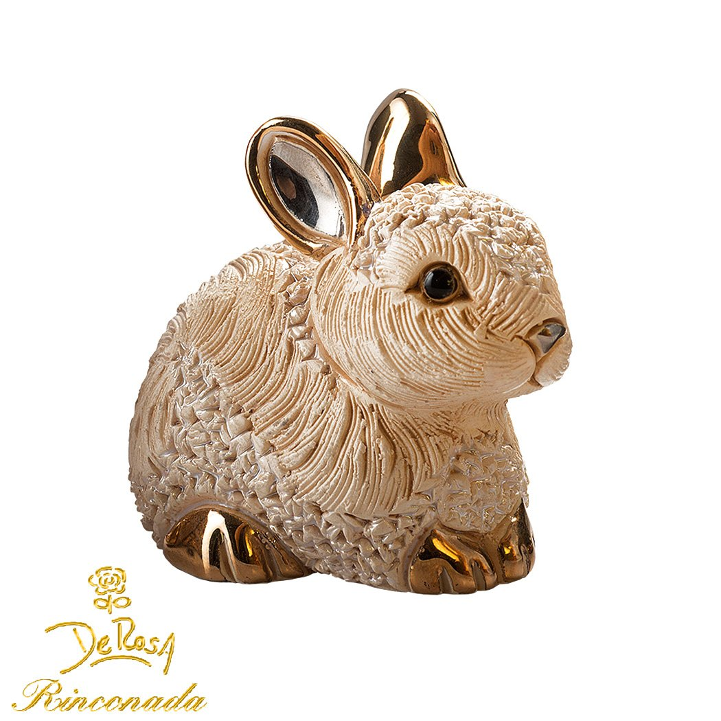 Conejo Estatuilla de cerámica conejo De Rosa Rinconada-Cerámica liebre