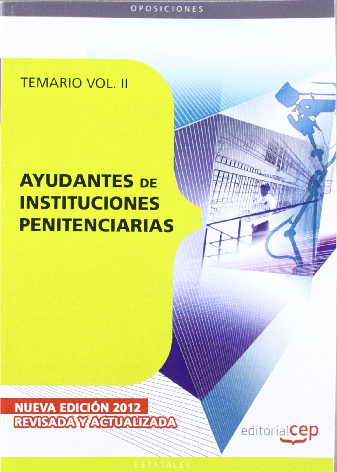 Ayudantes de Instituciones Penitenciarias. Temario Vol. II PDF