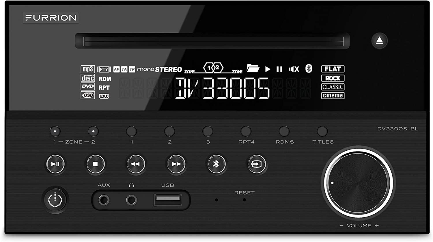 Furrion 120W 2-Zone Entertainment System with a Built-in DVD Player