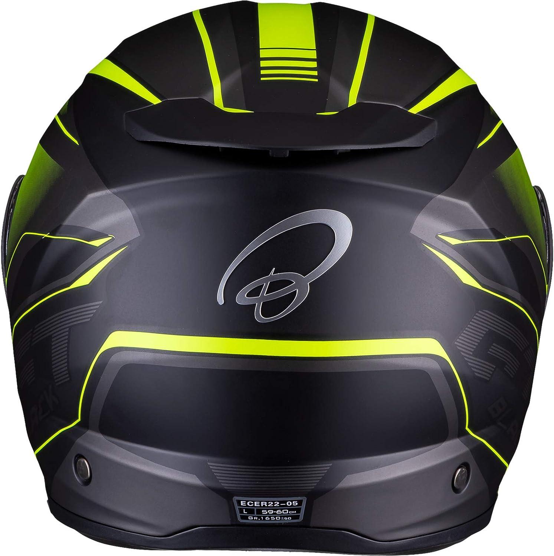 Black Optimus II Infinity Flip Front Solid Motorcycle Helmet