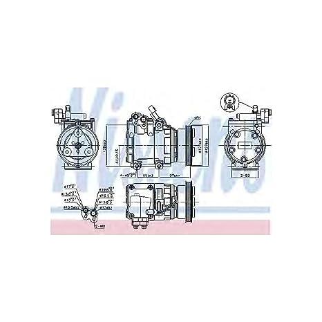 Nissens 89253 Compresor, aire acondicionado