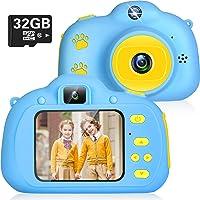 Cámara Digital para Niños Juguetes 1080P Selfie Camara Infantil Cumpleaños Regalos para Niños Cámara Fotos Niños 2.0 IPS…