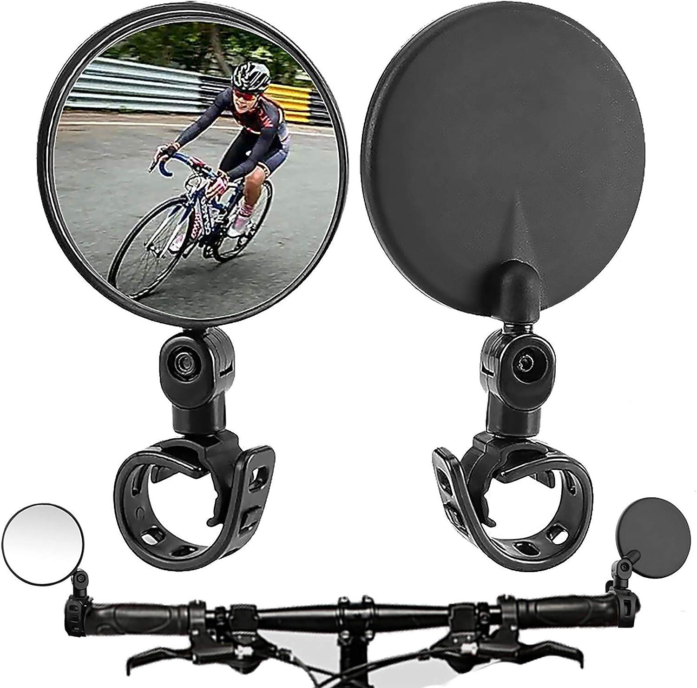 BUWEN Bike Mirror Bicycle Rear View Mirror 360/°Adjustable Handlebar Convex Mirror Wide Angle Rear View Mirrors Universal for Bike Electric Bike Motorcycle Mirror