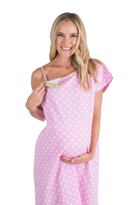 Baby Be Mine Gownies - Bañador de Maternidad para el Hospital Maternity, Bolsa de Hospital, Baby Shower - Rosado - XXL Antes del Embarazo 16-22: Amazon.es: ...