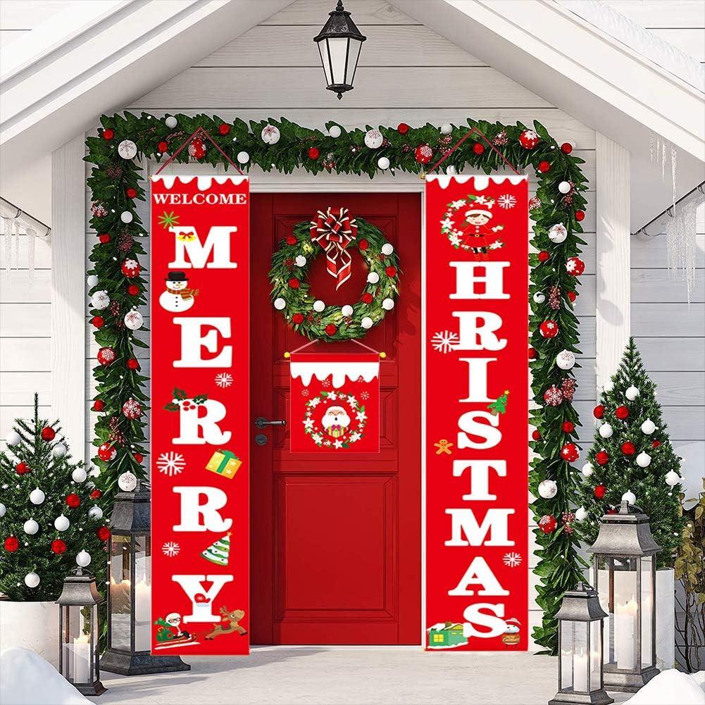 Amazon.com: Letrero para porche con texto en inglés «Merry ...