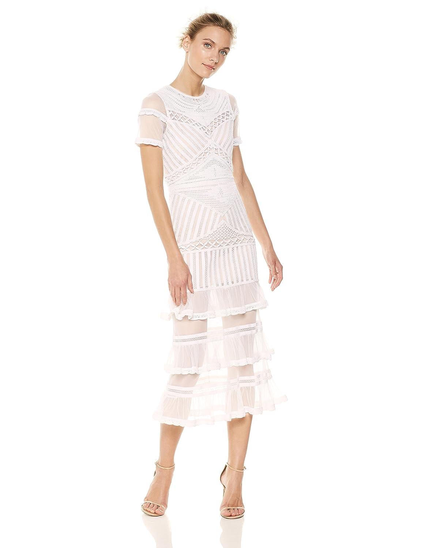 04fd38b7b034 Nicole Miller Women's Beaded Crochet Midi Dress at Amazon Women's Clothing  store: