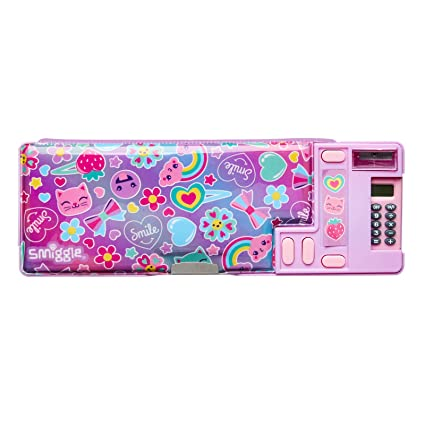promo code 33362 bc8d8 Amazon.com : Smiggle Stylin' Pop Out Pencil Case (Lilac) : Office ...