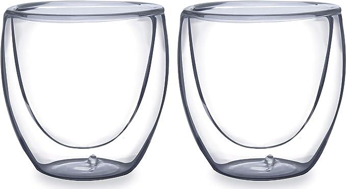 Dupla de Copos para Café Parede Dupla Boros Silicato Mimo Style Transparente por Mimo Style
