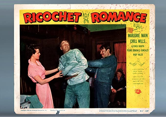 Movie Poster Ricochet Romance 1954 Straight Jacket Lobby Card Fr