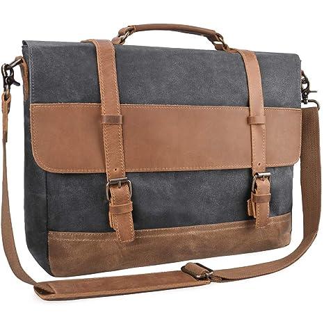 d37a0d82ed NUBILY Brosa Lavoro Uomo Tela Messenger Borse Spalla Laptop Tracolla  Impermeabile Tote Grande Scuola Vintage Bag