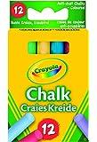 Crayola - 12 Tizas De Colores Antipolvo (0281)