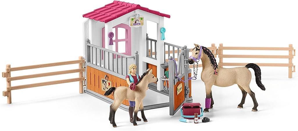 SCHLEICH HORSE CLUB PFERDEBOX MIT ARABERN UND PFERDEPFLEGERIN 42369 PFERDE-BOX
