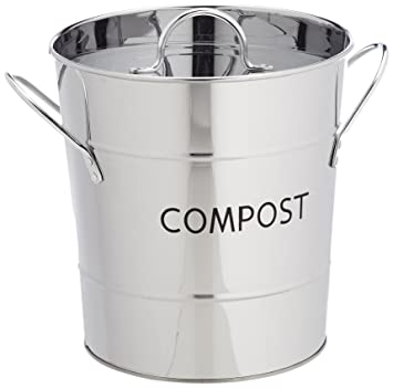 stainless steel kitchen compost bin removable inner bucket by eddingtons