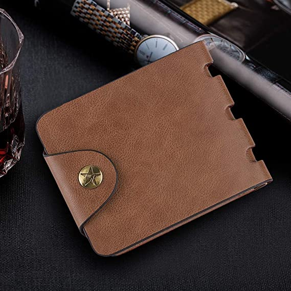 Simple design wallet for men Fathers Day gift Mens slim wallet at Amazon Mens Clothing store: