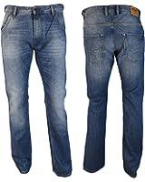 Diesel Jeans Krooley 5 poches pour homme, Denim, 100 % Coton, Bouton
