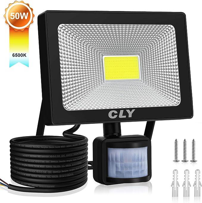 150 opinioni per CLY Faretto Esterno 50W Faro LED con Sensore di Movimento Super Luminoso
