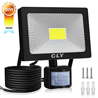 Projecteur LED Avec Detecteur De Mouvement, 50W Projecteur Led Extérieur Avec  Detecteur, LED Éclairage