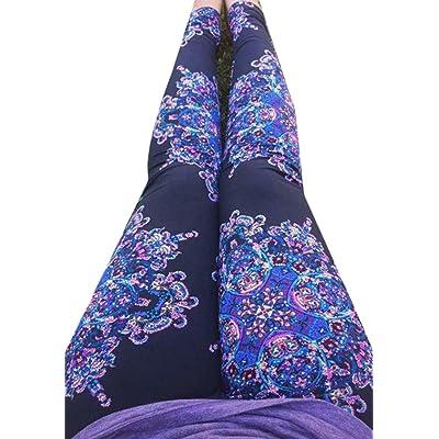 ARRIVE GUIDE Womens Yoga Skinny Stretch Boho Print Pencil Pant Leggings