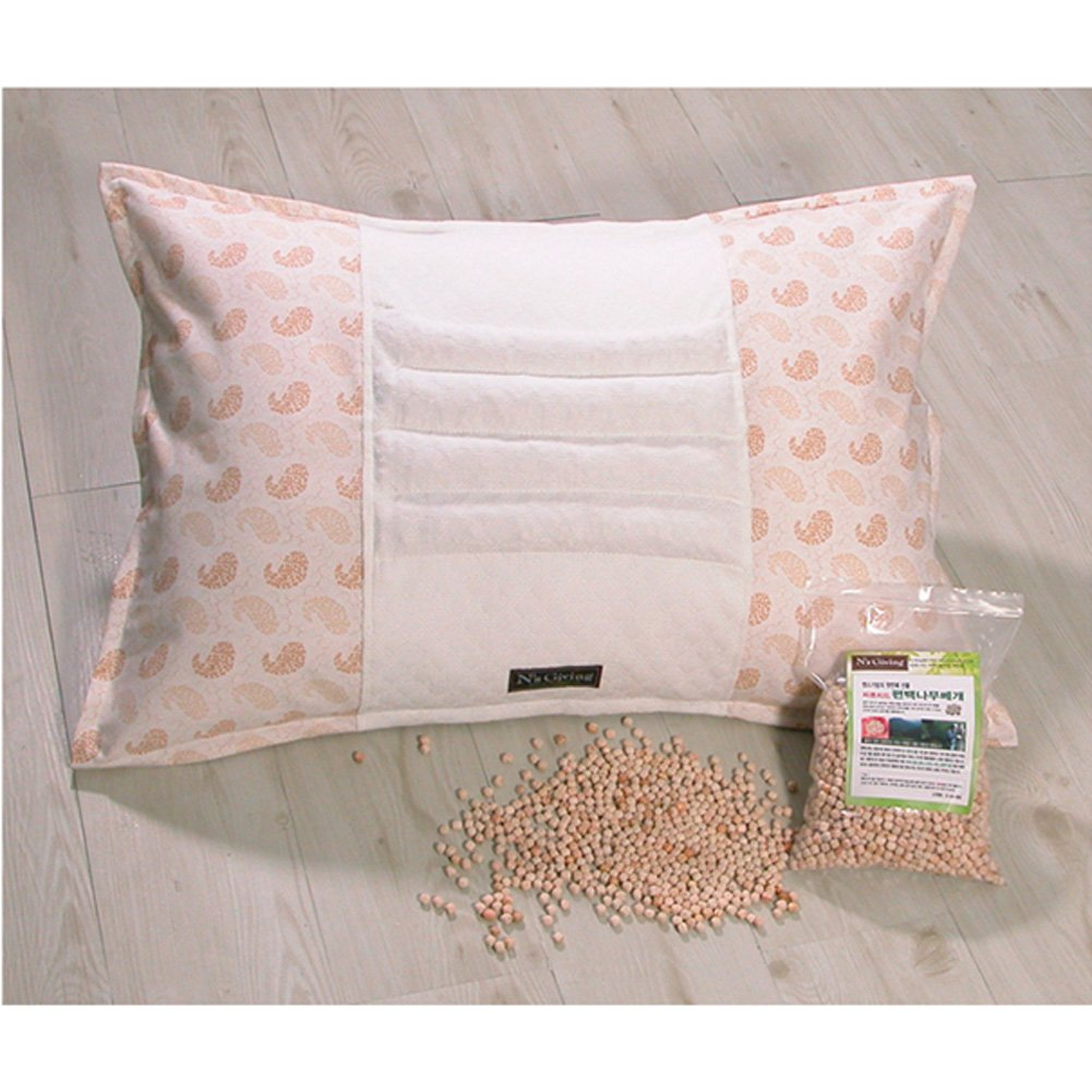 N's Giving Phytoncide Hinoki Cypress Wood Chip & Natural Latex Pillow Cover by N's Giving (Image #1)