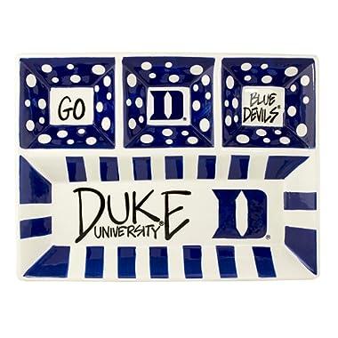 Magnolia Lane Collegiate Ceramic 4 Section Divided Tray (Duke Blue Devils)