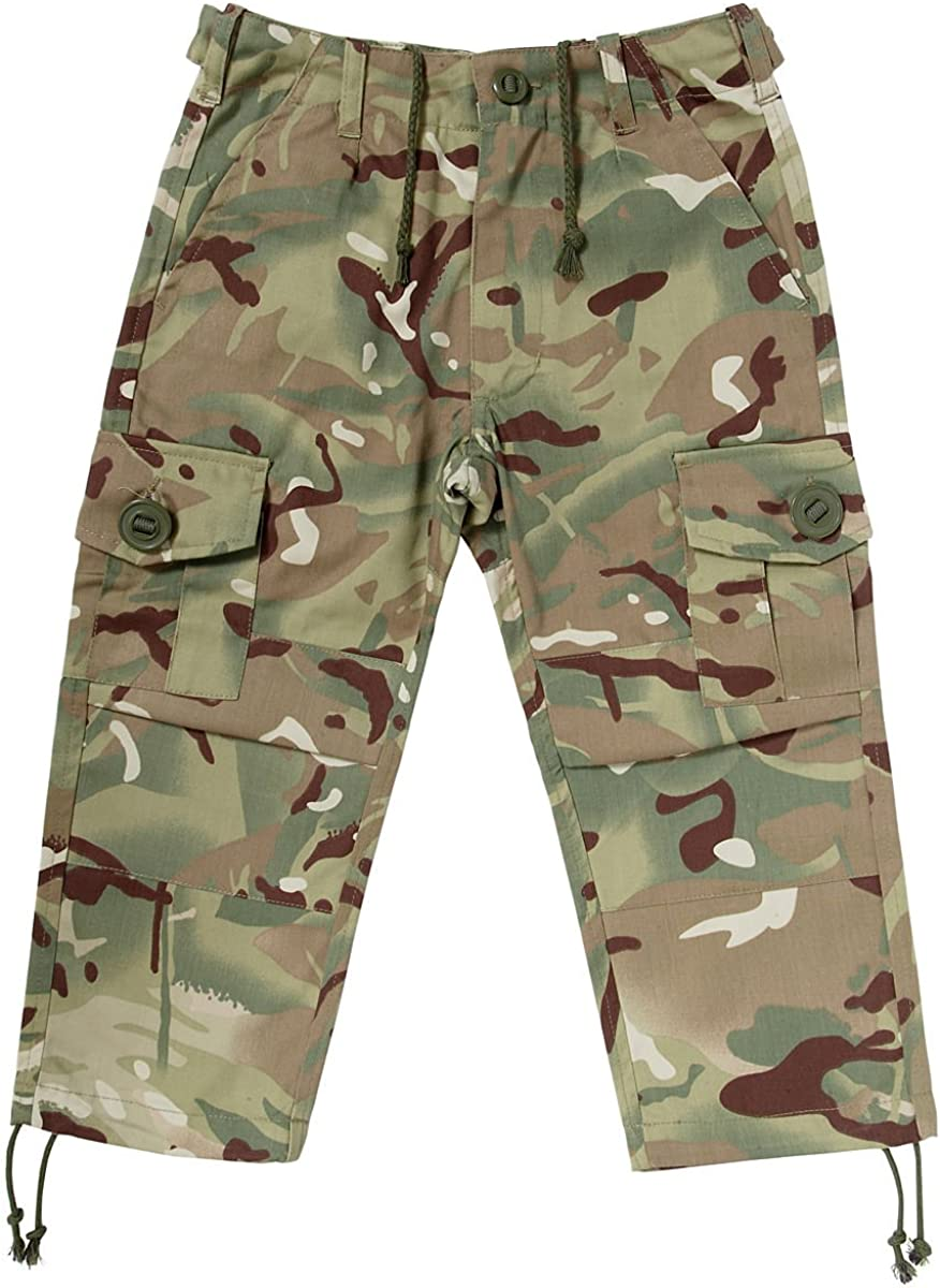 Multi Terrain Camo Ages 3-13 Years Kids Army MTP Camouflage Combat Trousers