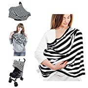 Nursing Cover Scarf - WoNiu Breastfeeding Cover Premium Soft, Stretchy & Multi-Use as Baby Car Seat Cover, Nursing Cover, Shopping Cart Cover, High Chair Cover Best Gifts for Girls and Boys