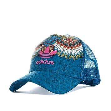 adidas M B Gorra de Tenis, Mujer, Azul (aguama/multco), OSFW: Amazon.es: Deportes y aire libre