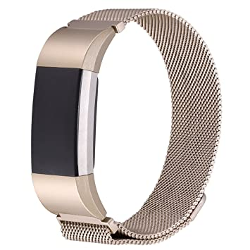 Amazon com: TopACE Fitbit Charge 3 Bands, Milanese Stainless Steel