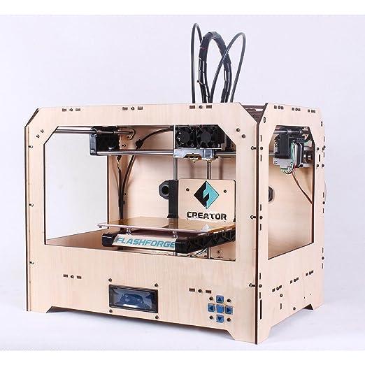 Flashforge 3D impresora completo de montaje, dual extrusor w/2 ...