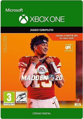 Madden NFL 20: Edición Estándar   Xbox One - Código de descarga: Amazon.es: Videojuegos