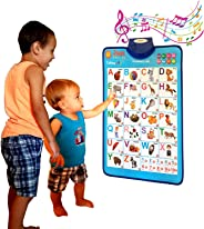 Just Smarty Electronic Interactive Alphabet Wall Chart, Talking ABC & 123s & Music Poster, Best Educational Toy for Toddler.