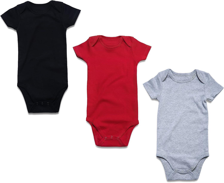 Unisex Boys Girls One-Piece Romper 3-Pack Long Sleeve Bodysuits OPAWO Baby Cotton Bodysuit