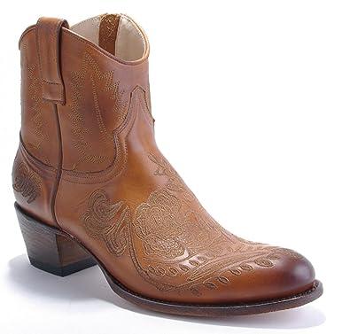 best sneakers 2de2a 58901 Damen Cowboy Stiefel Kurzstiefel Sendra braun Bestickt ...