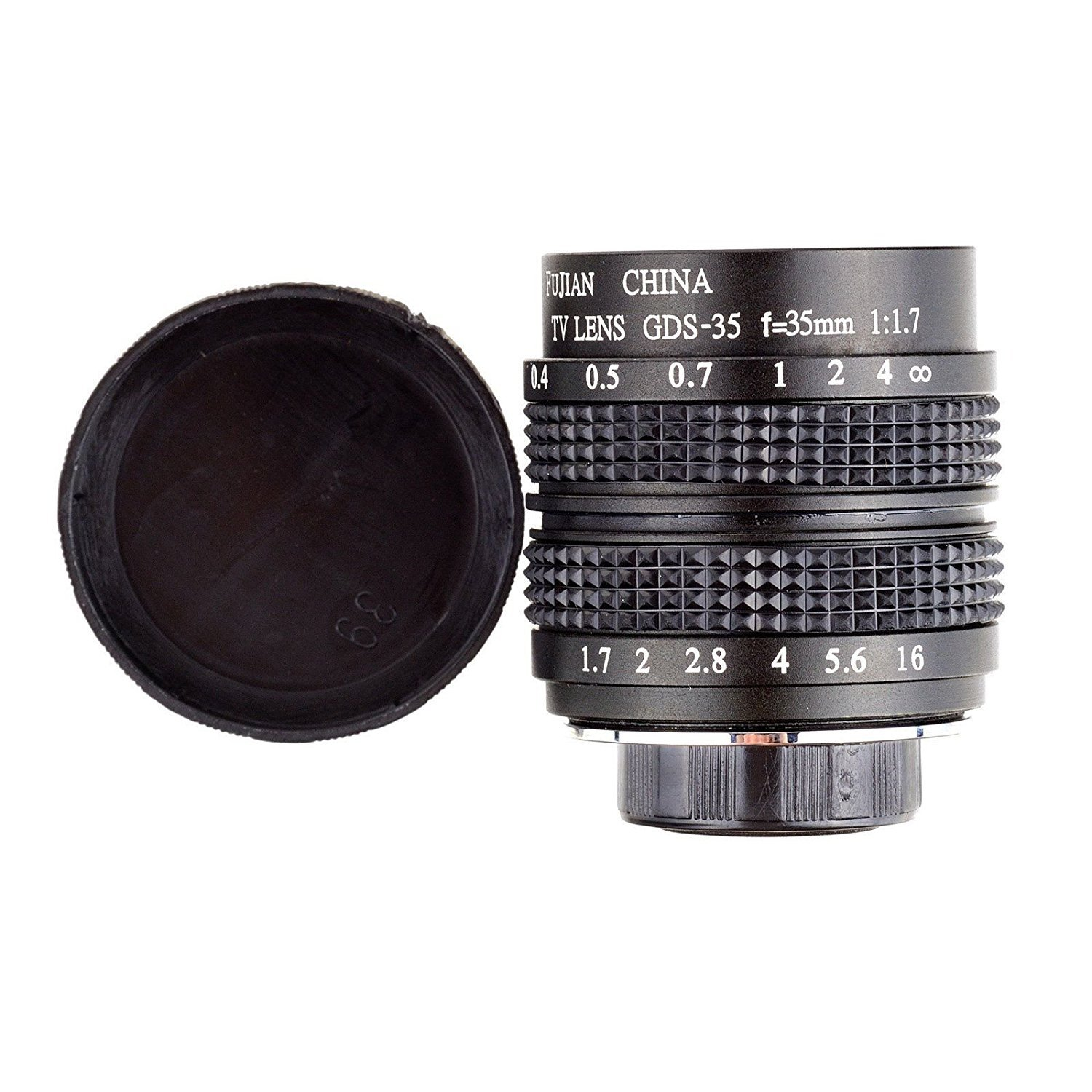 Fujian 35mm f/1.7 CCTV cine lens for M4/3 / MFT Mount Camera & Adapter bundle black Micro 4/3 M4/3 GF3 GF5 E-PL3 E-P3 E-PM1