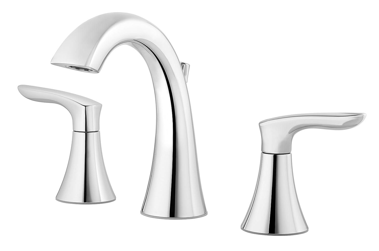 Pfister Weller LG49WR0C Widespread Bath Faucet, polished chrome finish