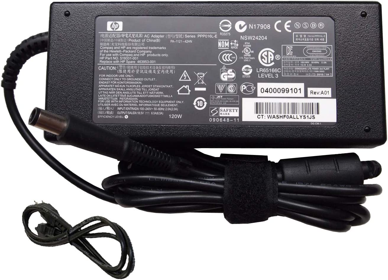 UpBright AC Adapter Compatible with HP OEM Pavilion 27 AIO Desktop 27-xa001127-xa0013w27-xa0014 27-xa0080 27-n01027-n04127-n060xt 27-n160xt 27-n121 27-a010 27-a127c 27-r014la 27-d0240t 19.5V 120W