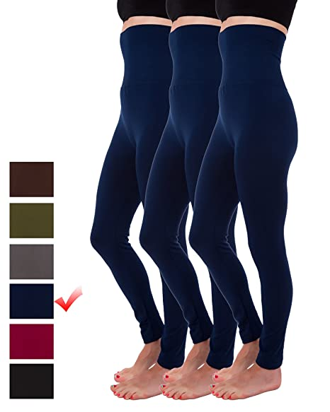 d7aac89636f Homma 3-Pack High Waist Compression Fleece Lined Thick Brushed Leggings  Thights (S