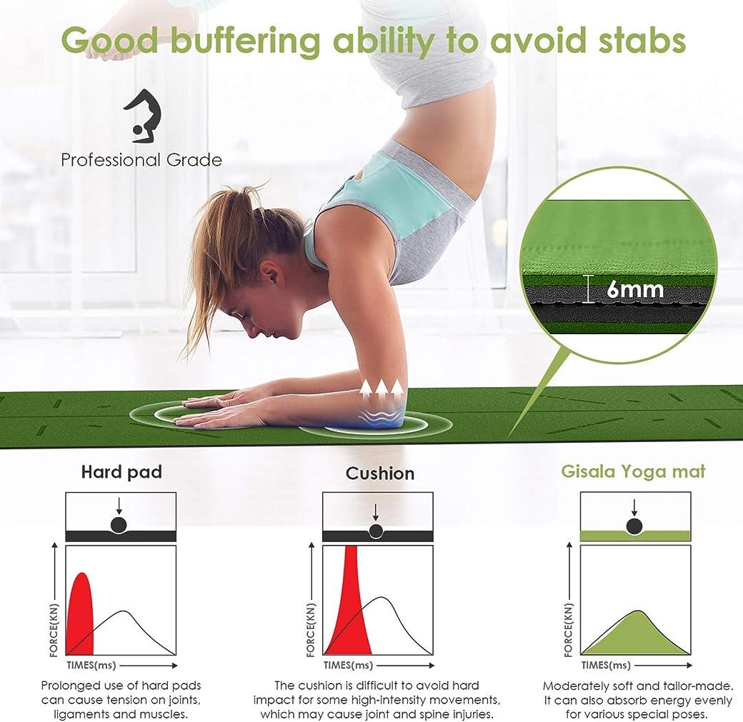 GISALA Esterilla Yoga - el mejor esterilla yoga de amazon